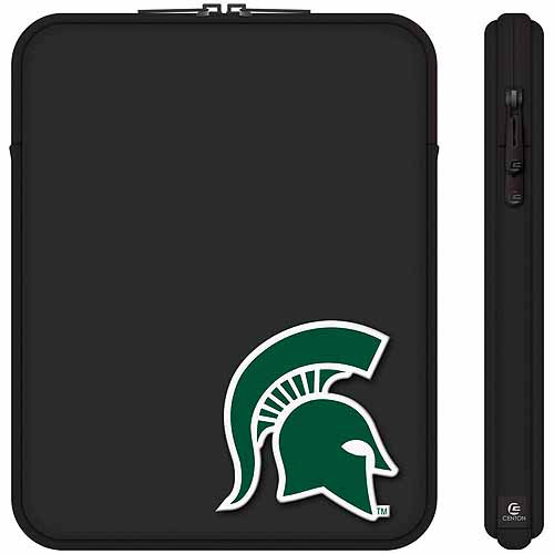 "Centon 10"" Classic Black Tablet Sleeve Michigan State University"
