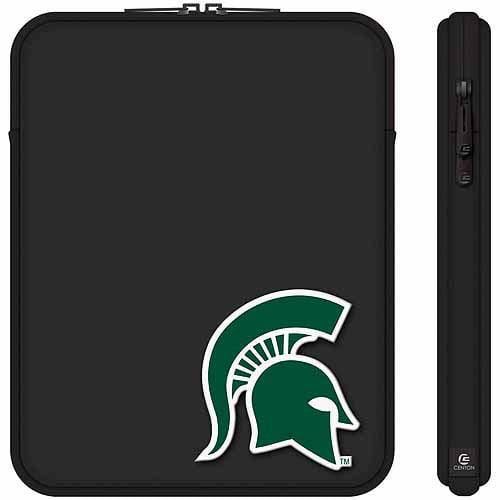 "Centon 10"" Classic Black Tablet Sleeve Michigan State University"