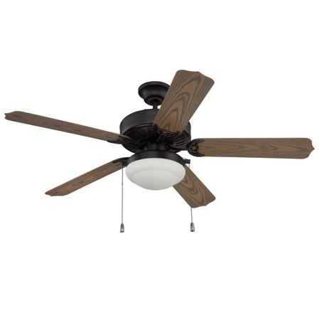 Craftmade WOD52ABZ5PC1 Enduro 52 inch Aged Bronze Brushed with Weathered Oak Blades Ceiling Fan in Matte (Oak 52 Inch Fan Blades)