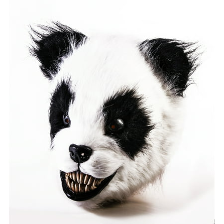 Scary Panda Latex Adult Costume Mask for $<!---->