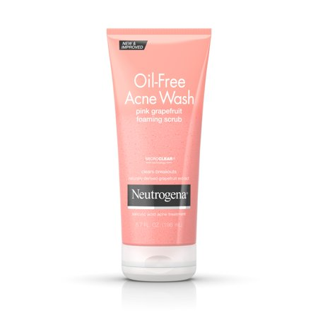 Neutrogena Oil-Free Pink Grapefruit Acne Wash Face Scrub, 6.7 oz for $<!---->