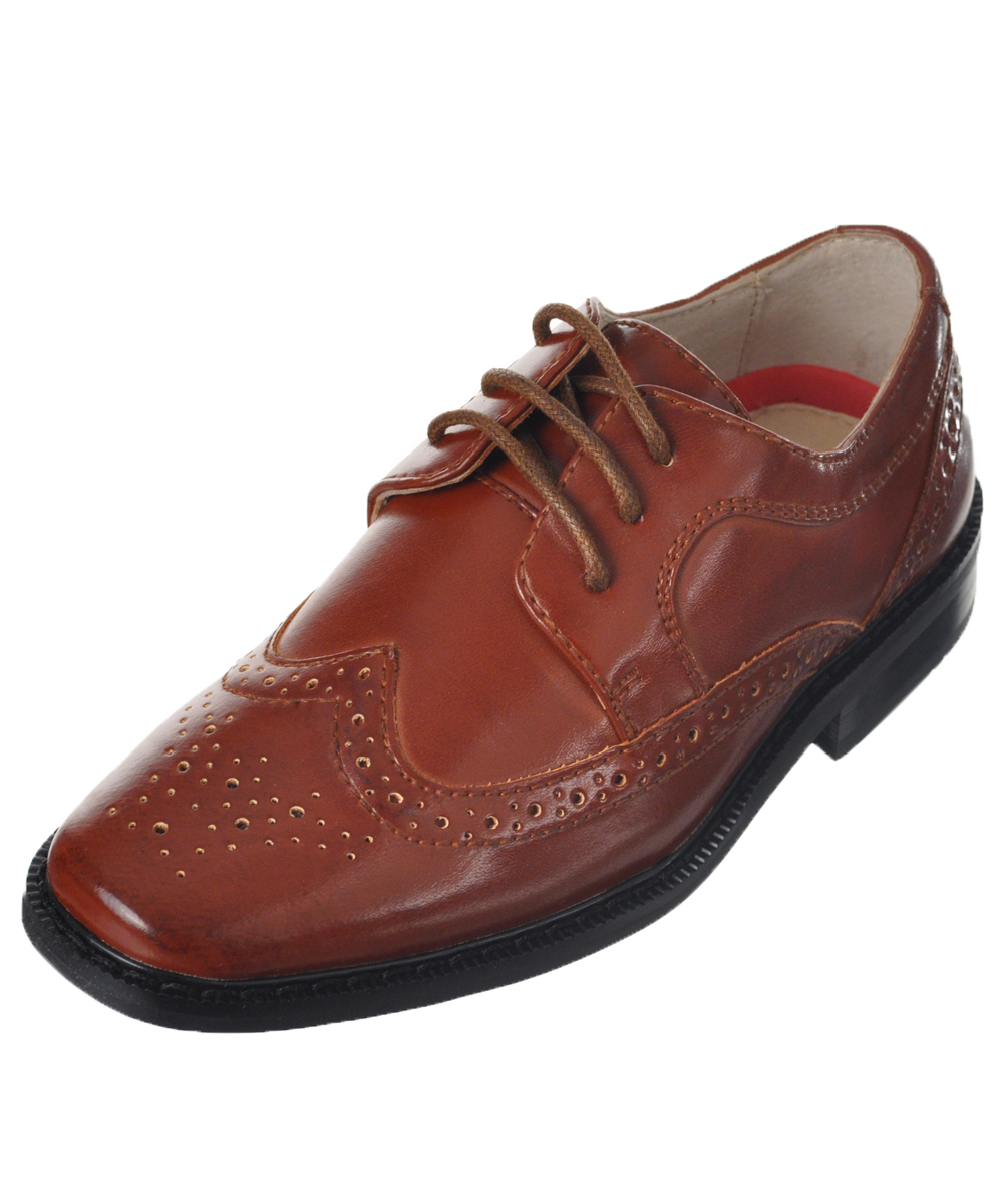 "joseph allen boys' ""worsted wingtip"" dress shoes (toddler sizes 9 - 12)"
