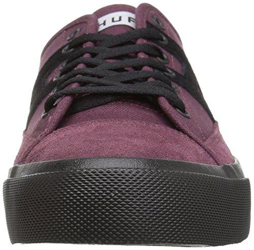 HUF Men's Hupper 2 LO Skate Shoe, Deep Wine, 4.5 Regular US