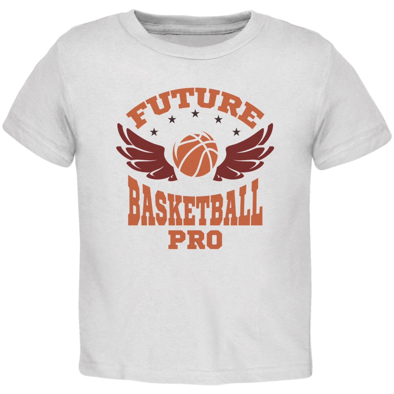 Future Basketball Pro White Toddler T-Shirt
