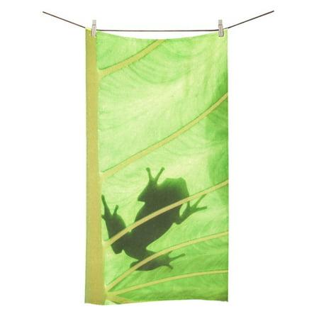 MKHERT Frog At Lotus Leaf Bath Towel Hand Towel Shower Towel Washcloth 30x56 inch