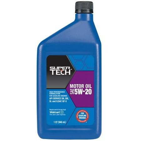 Supertech 5w20 motor oil 1 qt for 5 quart motor oil