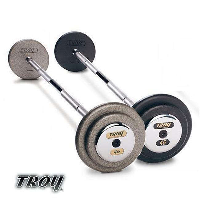 Troy Barbell HFB-020C Pro-Style Commercial Grade Gray Pro-Style Curl Barbell - 20 Pounds