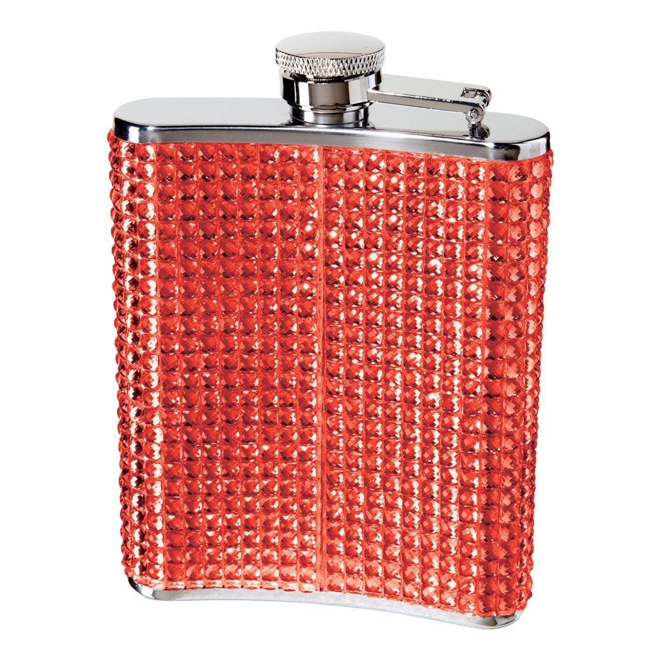 OGGI 9248 Glitter and Glitz Stainless Steel Hip Flask