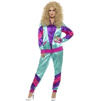 80s Height of Fashion Shell Suit Costume, Female, Large