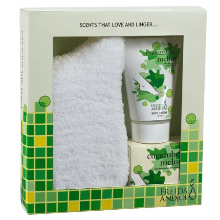 Relaxing Spa Bath Gift Set For Women With Body Lotion, Bath Salts And Super Soft Cozy Socks In Cucumber Melon...