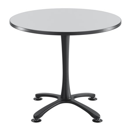 GRBL ChaCha Office Conference Inch Round Shape Gray Laminate - 36 inch round office table