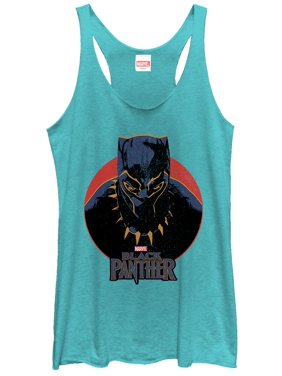 26a381209a4c0 Product Image Marvel Women s Black Panther 2018 Retro Circle Racerback Tank  Top