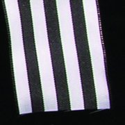 """Shimmering Black and White French Wired Striped Craft Ribbon 1.6"""" x 27"""