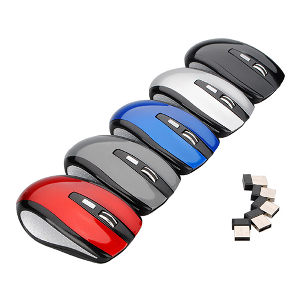 Slim 2.4GHz Wireless Usb Mouse Optical Mouse Cordless Mice USB 2.0 Receiver For Laptop PC