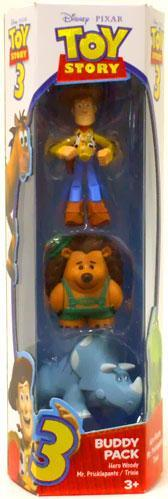 Toy Story 3 Trixie, Hero Woody & Mr. Pricklepants Mini Figure 3-Pack by