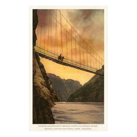 Kaibab Suspension Bridge, Grand Canyon Print Wall Art