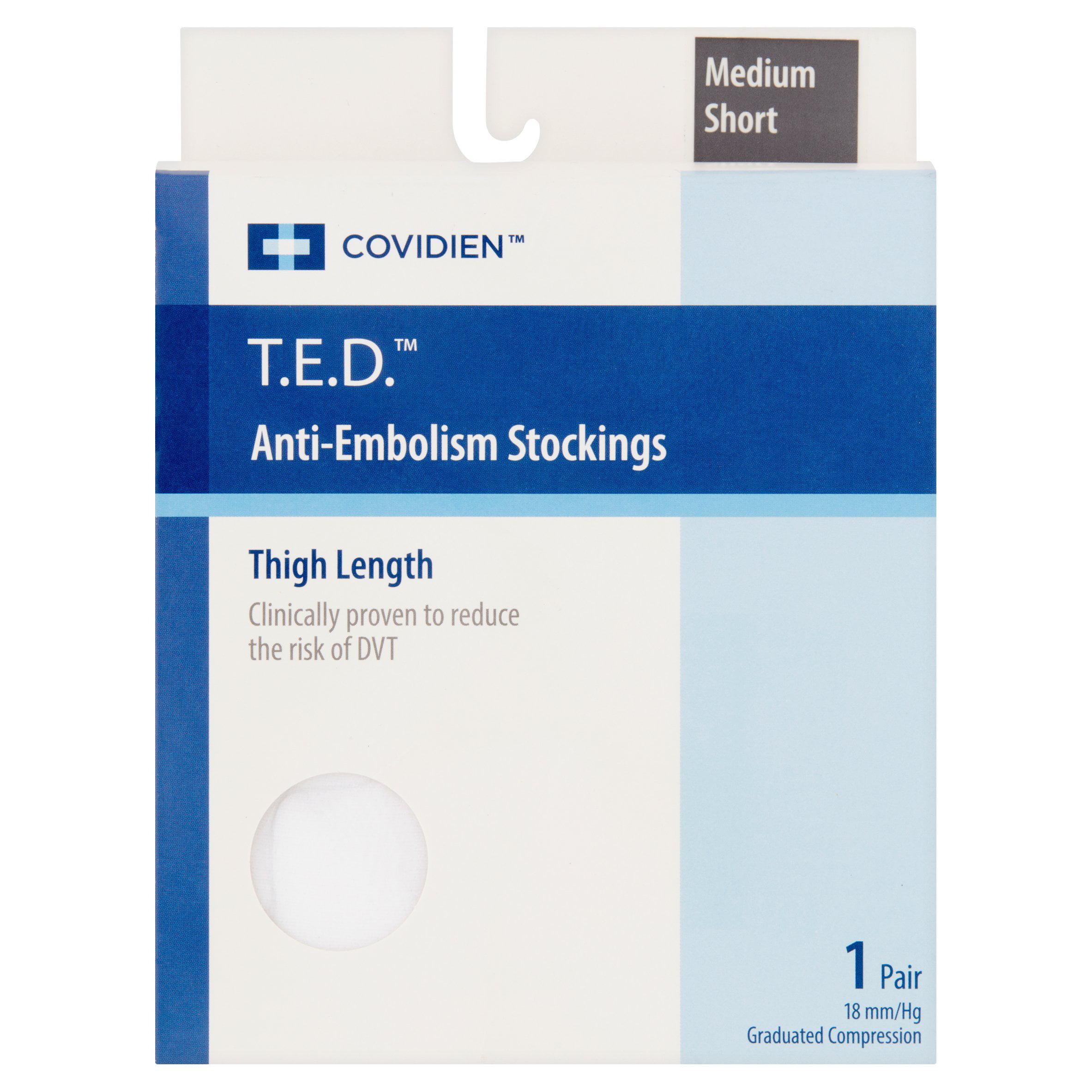 25cab70a20 Covidien T.E.D. Medium Short Anti Embolism Stockings Pair - Walmart.com