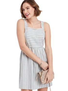 73c5dbae8c Product Image Stripe Cinched Strap Dress