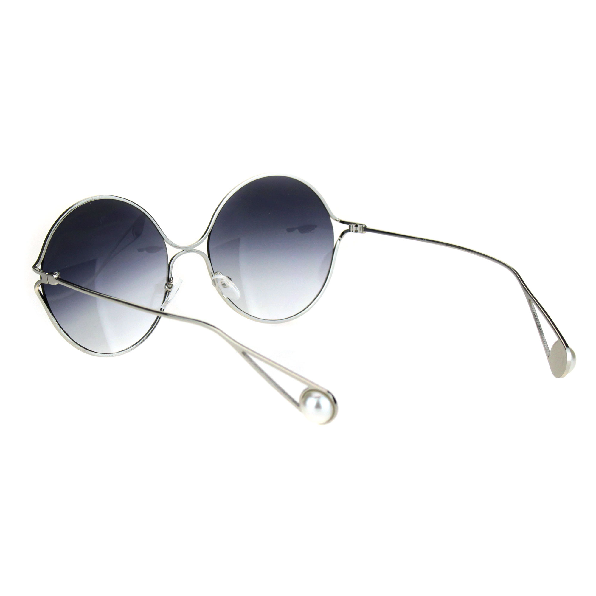 e560e40137 SA106 - Womens Round Circle Exposed Lens Retro Hippie Sunglasses Gold Smoke  - Walmart.com
