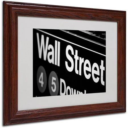 Trademark Art 'Wall Street Next' Matted Framed Art by Yale Gurney