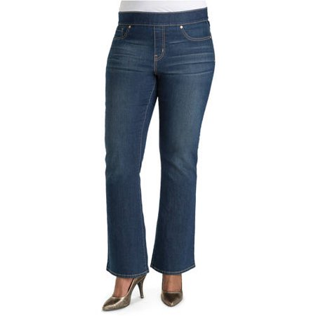 Signature by Levi Strauss & Co. Plus Women's Totally Shaping Pull On Bootcut Jeans