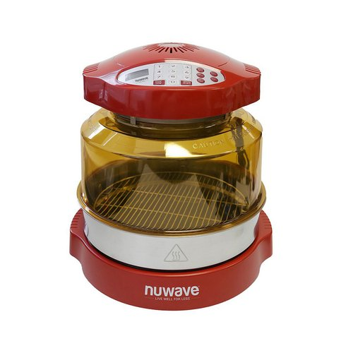NuWave 20636 Pro Plus Oven with Stainless Steel Extender Ring Kit, Red