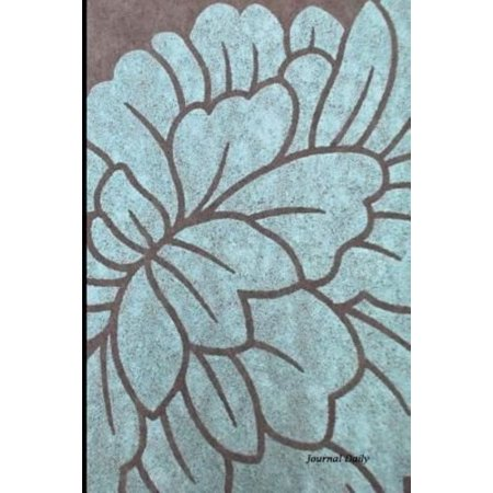Journal Daily  Light Blue Flower Design  Unique Stylish Lined Blank Journal Book  6 X 9  200 Pages  Dailyjournal Notebook