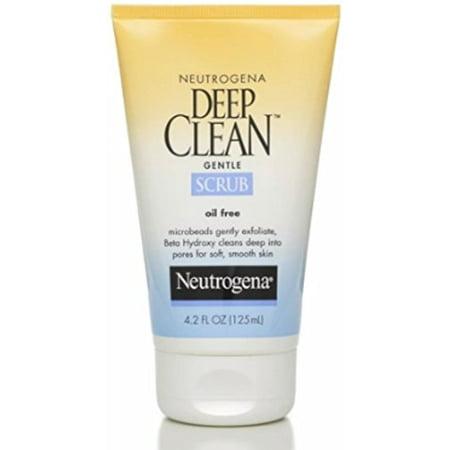 Neutrogena Deep Clean Gentle Daily Facial Scrub, Oil-Free Cleanser, 4.2 fl. Oz (Pack of 12)