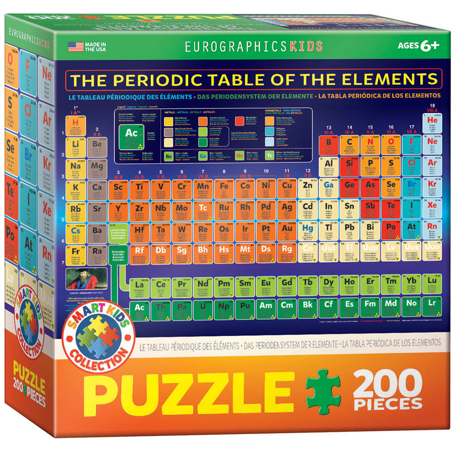 EuroGraphics Periodic Table of Elements 200-Piece Puzzle