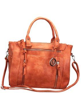 db6c1d9b24c2 Product Image ZzFab Multi Zippers Fashion Locking Faux Leather Concealed  Carry Gun Bag Orange