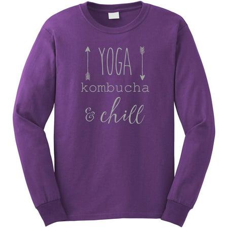 76046449fb1 Yoga Kombucha and Chill Long Sleeve Shirt - ID: 1530 - Walmart.com