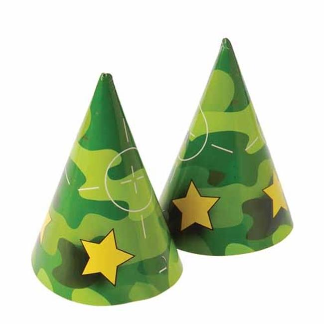 USToy H482X59 Camo Paper Hats - D, 59 Per Pack - Pack of 12