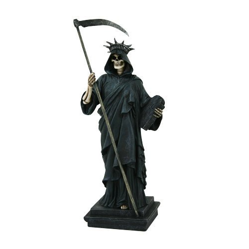 "PTC Lady of Liberty Creeper Skeleton Resin Statue Figurine, 11.5"" H"
