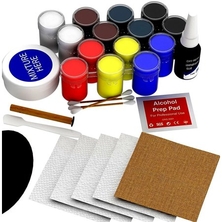 The Official Leather Repair Tool Kit [25 Piece Set] Liquid Mixture Vinyl Restoration Kit- Best for Couch, Car Seats, Sofa, Jackets, Purse, Boots [No Heat Required]
