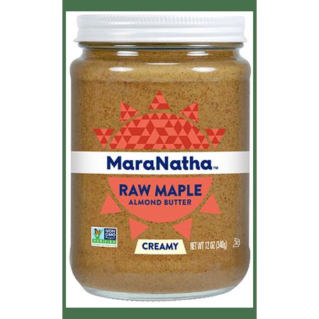 (2 Pack) MaraNatha Raw Maple Almond Butter, Creamy, 12 oz.