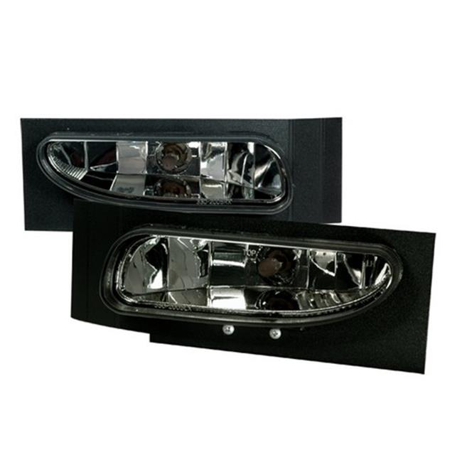 Spec-D Tuning LF-MST96G-DP Fog Lights Smoke for 94 to 98 Ford Mustang, 10 x 10 x 12 in.