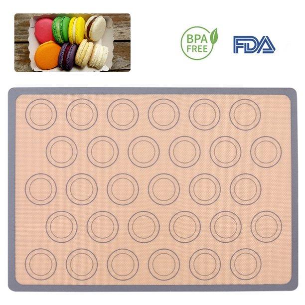 Reusable Silicone Macaron Baking Mats Half Sheet Liners Non Stick For Bake Pans Macaron Bread Cookie Bun Walmart Com Walmart Com