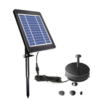 Solar Fountain Pump for Birdbath 3.5W Solar Powered Brushless Submersible Water Pump Built-in Battery LED for Patio Garden Pond Pool - image 1 de 7