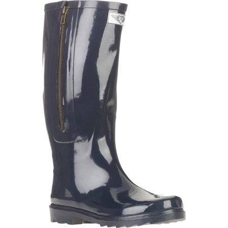 - Forever Young Women's Solid Tall Side Mock Zipper Rain Boot