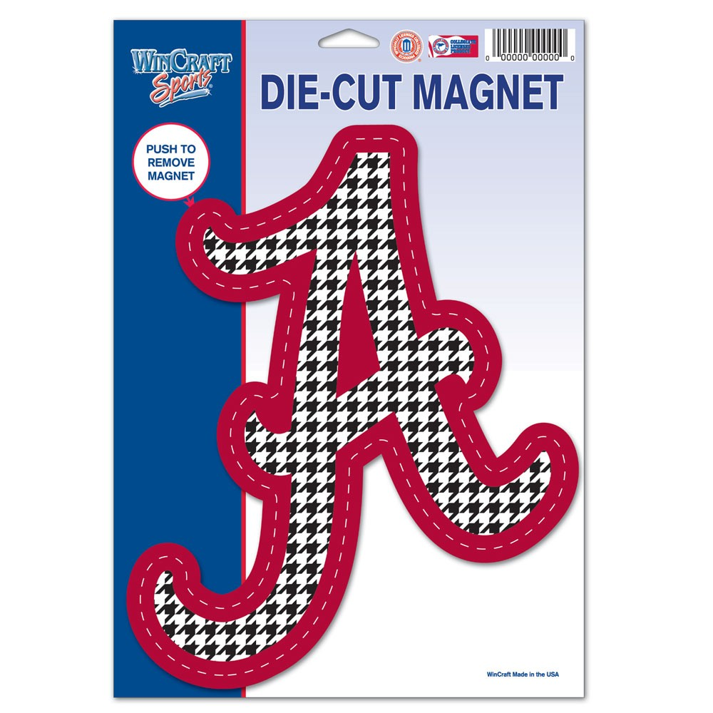 Alabama Crimson Tide Official NCAA 6 inch x 9 inch  Car Magnet by Wincraft