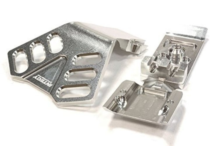 Integy RC Hobby C25902SILVER Billet Machined Front Skid Plate for Traxxas 1 10 Scale... by Integy