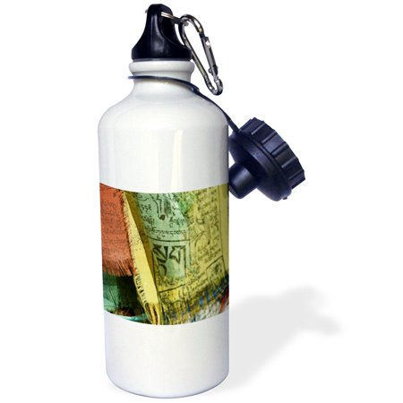 3dRose Ladakh, Leh, colorful Tibetan prayer flags - AS10 AAS0020 - Anthony Asael, Sports Water Bottle, 21oz