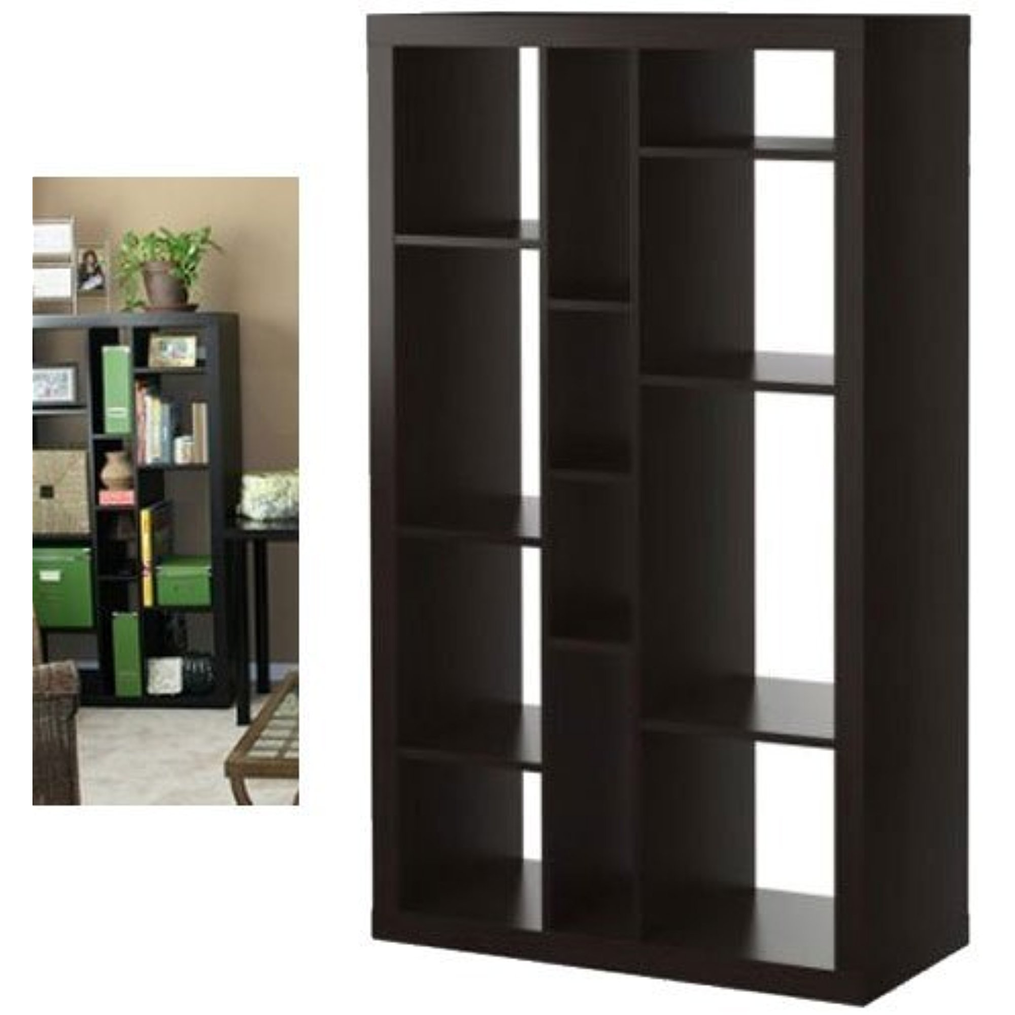 Ikea Expedit Bookcase / Tv Stand Multi Use Black Brown