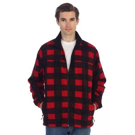 Plaid Sweater Vest (Gioberti Mens Zip Up Polar Fleece)