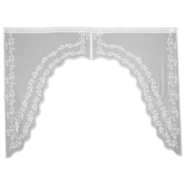 Heritage Lace  80 x 63 in. Sheer Divine Swag Pair, White - image 1 of 1