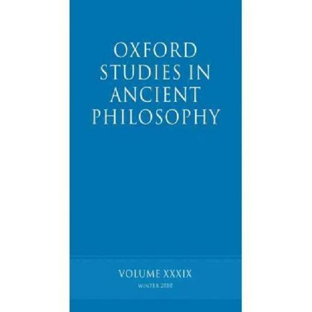 Oxford Studies in Ancient Philosophy Volume 39 - image 1 de 1