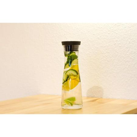 LAMINATED POSTER Carafe Detox Cucumber Water Lemon Drink Lime Poster Print 24 x - Cucumber Lime