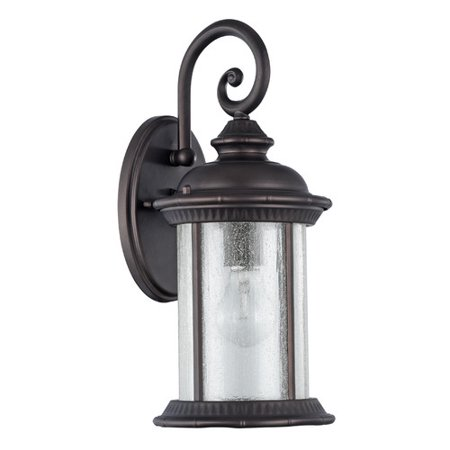 "CHLOE Lighting FEISS Transitional 1 Light Rubbed Bronze Outdoor Wall Sconce 15"" Height"