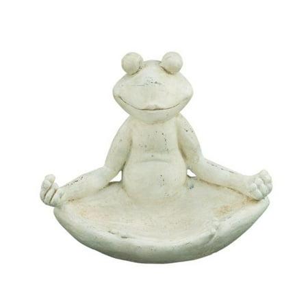 Polystone Sitting Frog 19  W  16  H