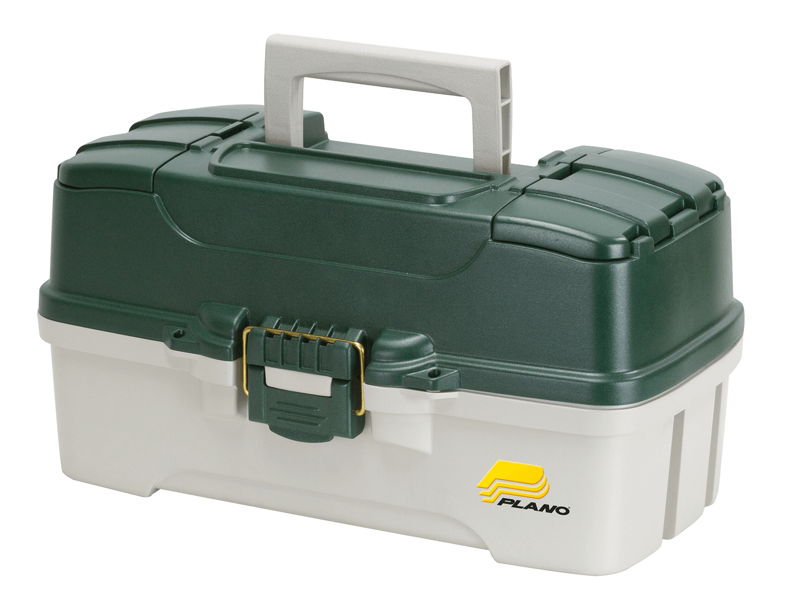 Plano Fishing, 3 Tray Tackle Box, Dual top access, Green Off White by Plano